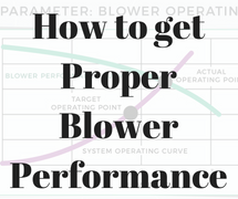 How to get proper blower performance image