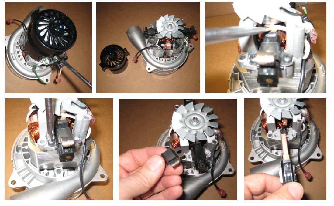 how to change brushes in brushed DC motor