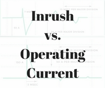inrush vs. operating current